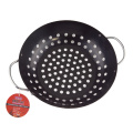 round steak grill cast iron wok plate