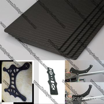 3K twill matte carbon fiber sheet cutting service