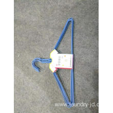 Plastic Coated Wire Hanger Blue