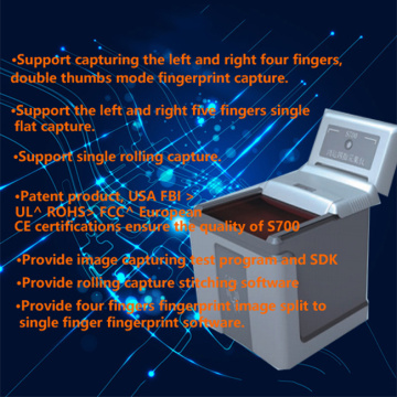 4-4-2  Four fingers fingerprint scanner