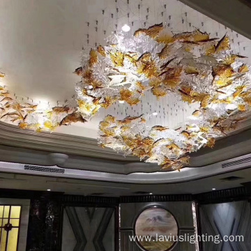 Unique fascinating design crystal glass chandelier