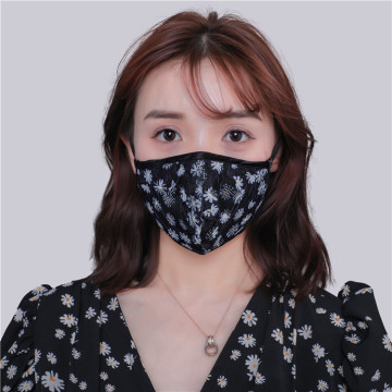Customized French Lace Imitation Silk Mask