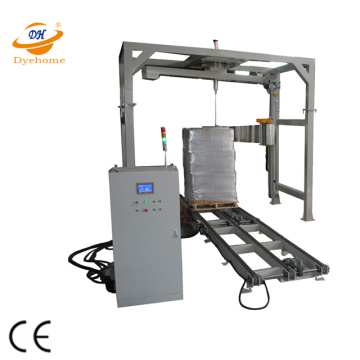 High speed automatic rotary-arm stretch wrapping machine