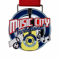Custom enamel color music city medal