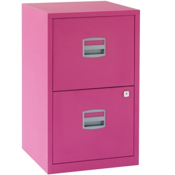 Pink Two Drawer Filing Cabinet