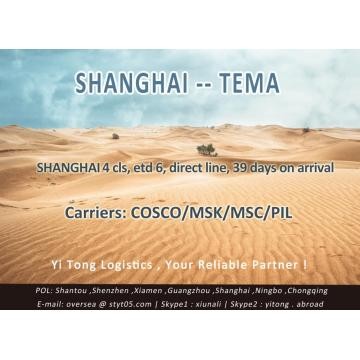 Shanghai Sea Freight to Tema