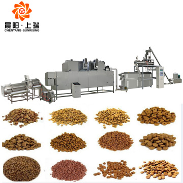 Pet food extruder machine dog food processing line