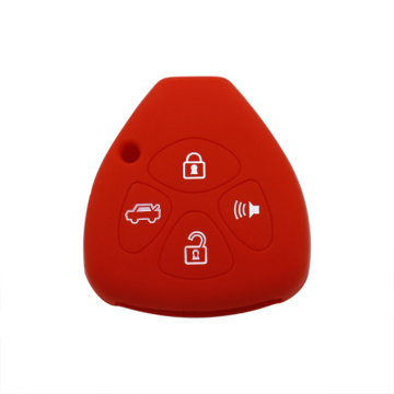 Toyota 4 buttons personalized silicone car key cover