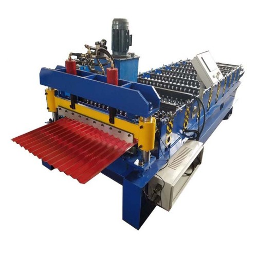 PPGI Corrugated Wall Sheet Roll Forming Machine