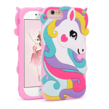 Custom 3D Cartoon Silicone Phone Unicorn Case