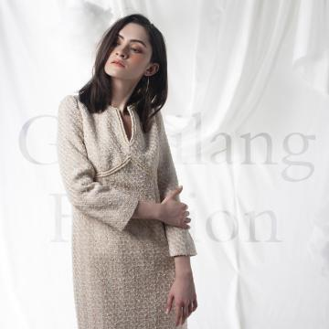 Cashmere overcoat in dress style