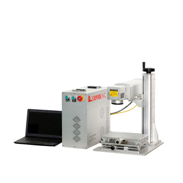 Easy operation 20w cnc portable Screws fiber laser marking machine