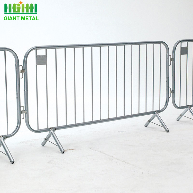 Durable galvanized concert crowd control steel barriers