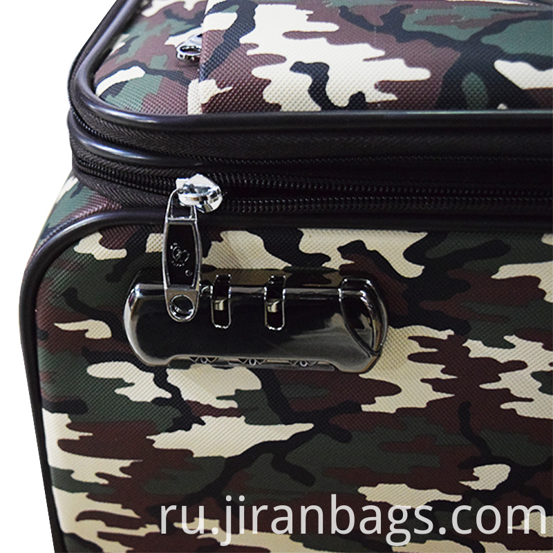 Camouflage softside luggage for bueniess trip