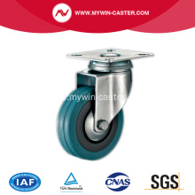 3'' Plate Swivel Grey Rubber Caster