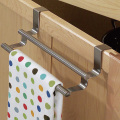 stainless steel over the cabinet towel bar