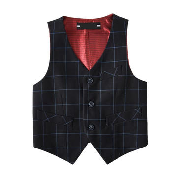 Boys' Check 100% Polyester Basic Vests