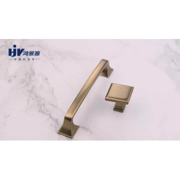 5'' Brushed Brass Gold Drawer Knobs Pull Handles