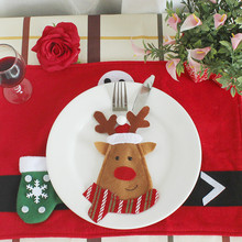 6pcs set Christmas Decorations For Home Snowman Cutlery Bags Christmas Santa Claus Kitchen Dining Table Cutlery Suit Set Decor