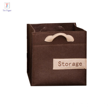 China factory cheap custom oem felt cloth foldable organizer storage box for tools home use