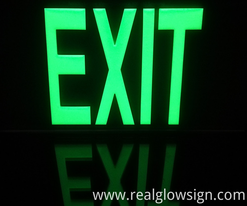 glow in the dark EXIT sign 50Ft night color