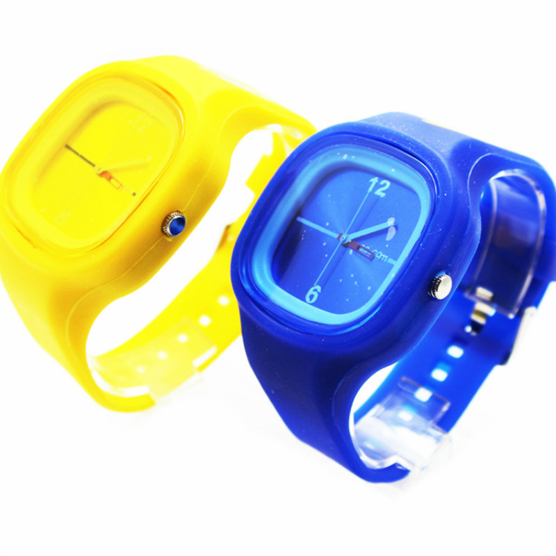 Cute Teenager Jelly Silicone Quartz Watches Gifts