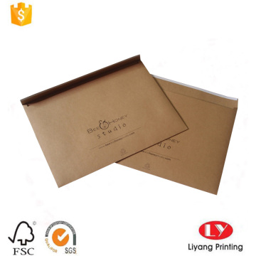 Recycled brown kraft paper envelop with printing