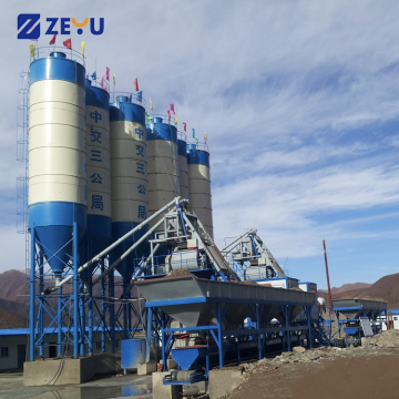 Ready mix concrete wet batch plant production