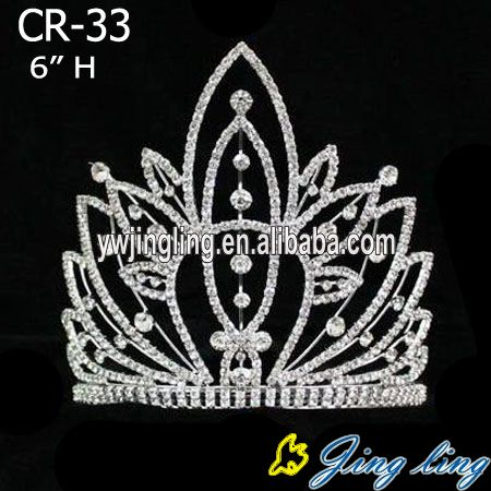 heart and flower crown rhinestone beauty tiara