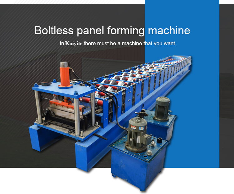 470 Steel Panel Boltless Roof Roll Forming Machinery