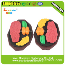 Sizzling Steak Shaped Eraser Rubber Toys For Children