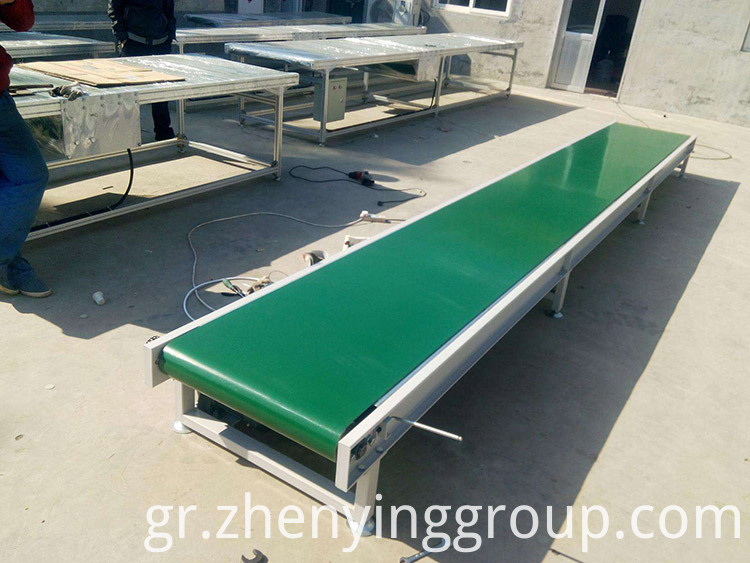 Industrial idler roller horizontal light belt conveyor machine
