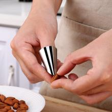 Stainless Steel Walnut Opener Peeler Finger Protector Multifunction Fruit Beans Garlic Peeler Kitchen Clip Gadgets tools