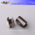High precision self-tapping threaded inserts for plastic
