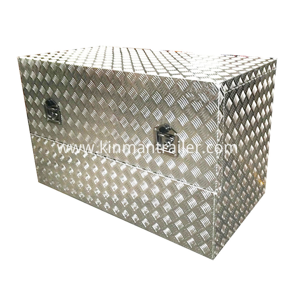 checker plate trailer tool box