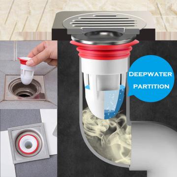 New Sewer Seal Ring Deodorant Drain Core Backflow Preventer Leak Anti-odor Pest Filter Colander Fast Drainage Floor Accessories