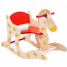 Cartoon lovely increase Trojan rocking chair wood toy