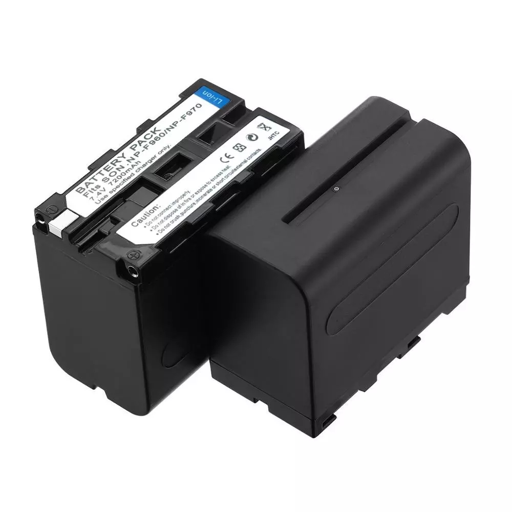 7200mAh NP-F970 NPF-960 Photographic Lamp Battery For LED Video Monitor Battery Yongnuo Photography light Battery WB