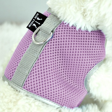 Pink Small Airflow Mesh Harness with Velcro