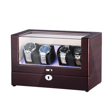 To rotorer Perpetual Motion Watch Winder med LED
