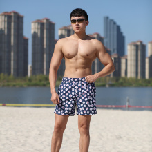 Polyester Print Brief Mesh Lining Swim Short