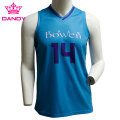 Blue sublimated basketball shirts
