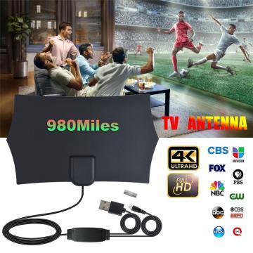 980 Miles HDTV Indoor TV Antenna 4K Digital Amplifier Signal Booster TV Radius Surf Fox Antena HD TV Antennas Aerial