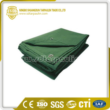 Olive Camping 100% Polyester Canvas Tarp