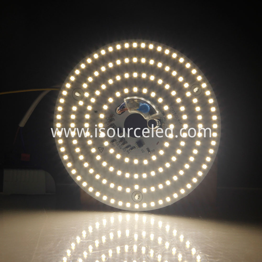 Dimming CCT 4325K Round 15W AC LED Module luminous effect diagram