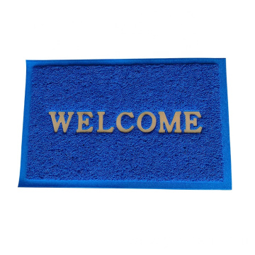 Stamped PVC coil welcome door mat