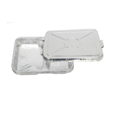 2 Compartment Aluminum Foil Tray Microwave