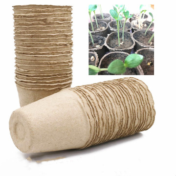 Paper Pot Plant Seedling Bag Trays Vegetable Seed Planting Flower Eco-Friendly Biodegradable Nursery Cup for Garden Absorb Water