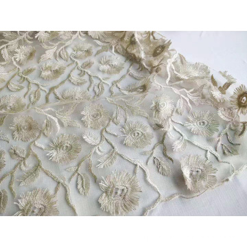 Fancy Polyester 3D Embroidery for Woman Dress