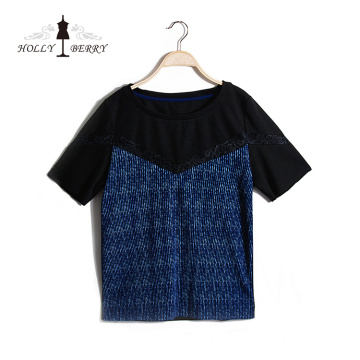 New Design Unlined Navy Regular Blouse